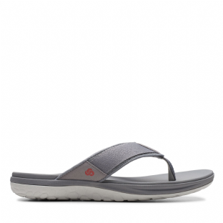 Clarks Mens Step Beat Dune Grey Sandals